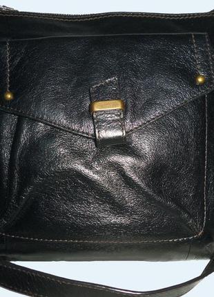 Стильная сумка натуральная кожа для мужчин  marks & spencer
