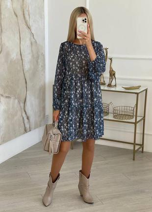 Шифоновое платье, 5 цветов