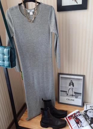 Платье лапша  в рубчик