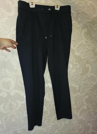 Укороченые штаны темно синего цвета