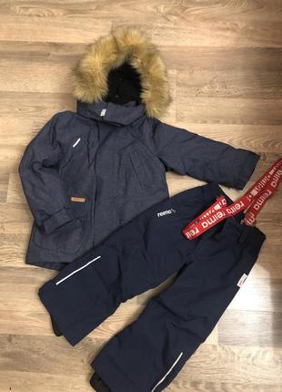 Куртка зимняя + полукомбинезон, 104+6 reima tec