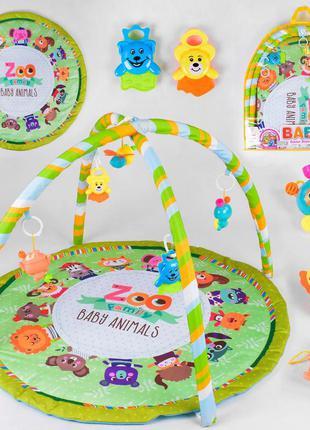 Развивающий коврик zoo 817