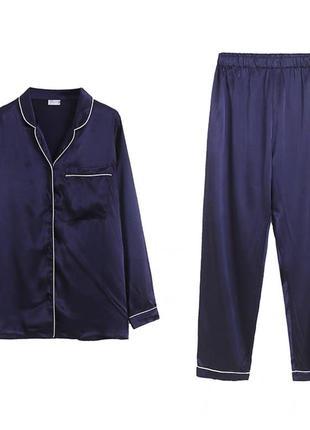 Атласный домашний костюм пижама