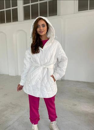Куртка рубашка стеганная на синтепухе. стеганная  стеганая осень зима