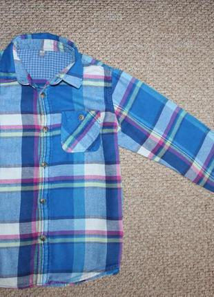 Рубашка байковая , рубашка для мальчика