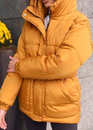 Куртка монклер горчица