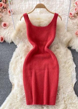 Ангора платье двойка 4 цвета