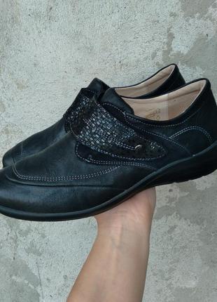 Р.41-42 hallux (оригинал) кожаные туфли, полуботинки.