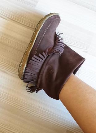 Ботильоны в ковбойском стиле осенние деми замшевые натуральные необычные сапожки ботинки 41