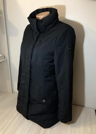 Куртка удлиненная чёрная пухова esprit s