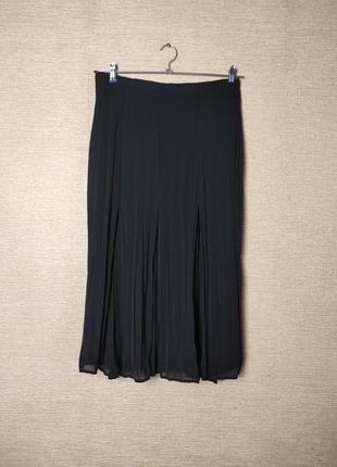 Шифоновая юбка спідниця миди жатка плиссе
