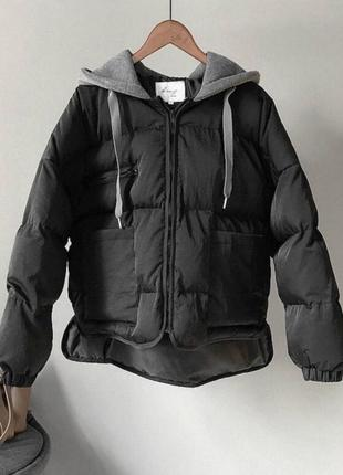 Черная курточка. осень. зима
