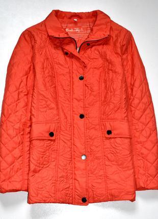 Charles voegele  оранжевая стёганая деми куртка. хл.14.42