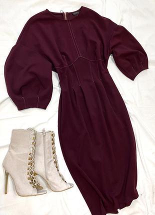 Бордовое платье topshop🔥