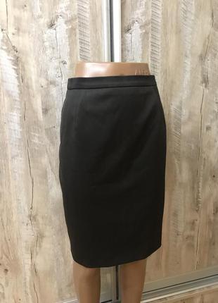 Классическая прямая юбка миди карандаш шерстяная шерсть натуральная классическая строгая люкс бренд escada