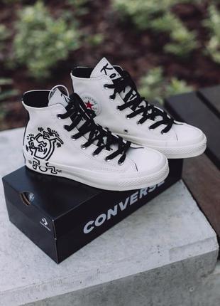 Кеды белые с черными шнурками размер 36-39