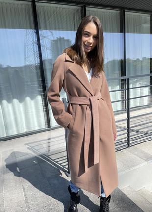 Длинное кашемировое пальто