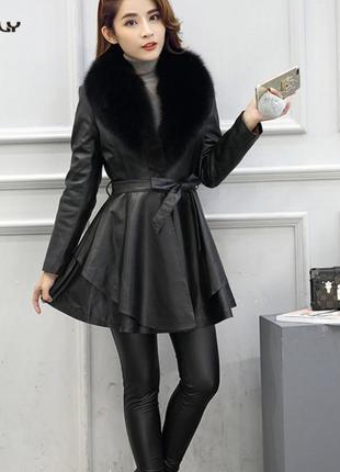 Куртка пиджак пальто плащ кожа заменитель эко.кожа zara h&m asos