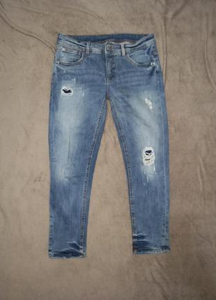 Женские рваные джинсы суперстрейч