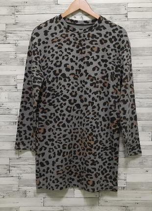 Стильное короткое платье в леопардовый принт zara
