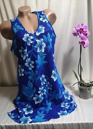 Блуза туника принт