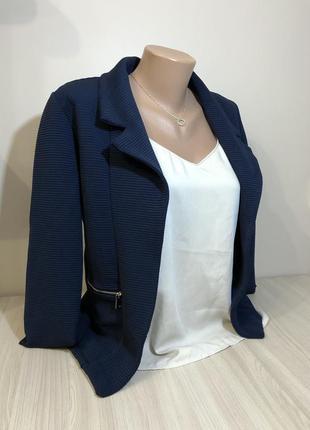 Пиджак темно-синий піджак жіночий s/m