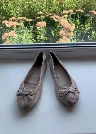 Новые кожаные балетки от f&f !