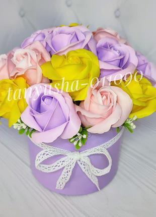 Букет цветов с мыла подарок ко дню учителя