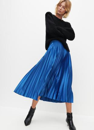 Синяя юбка плиссе reserved