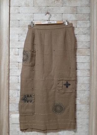 Дизайнерская юбка из натуральной шерсти