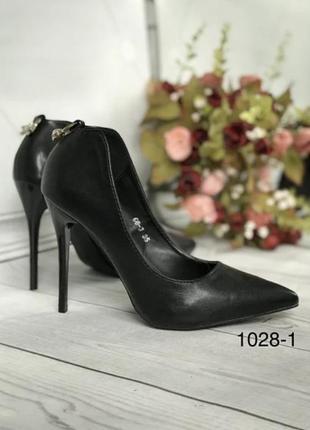 Чёрные женские туфли 35 размер