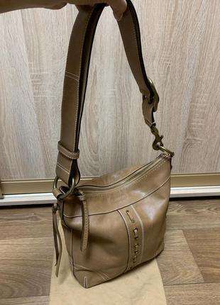Кожаная номерная сумка coach