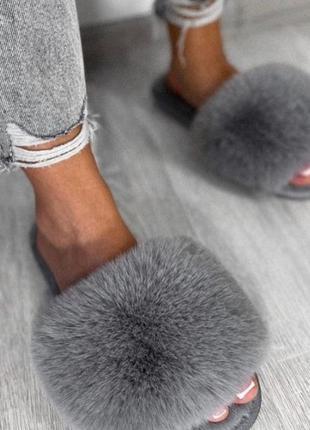 Женские тапочки из искусственного меха