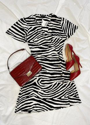 Платье в принт зебра 🦓