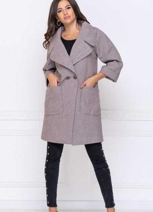 Кашемировое пальто тренч