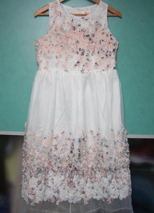 Платье миди из органзы