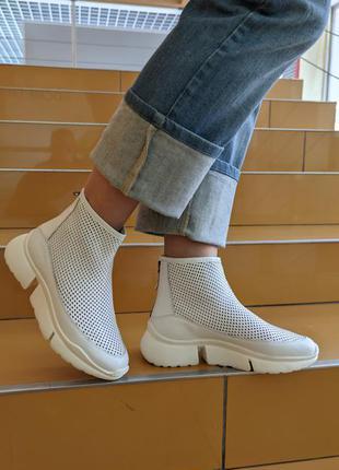 Кожаные женские  кроссовки носки ca'shott, дания