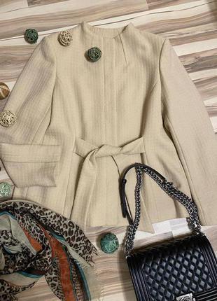 Элегантный жакет, пиджак из 100% шерсти (великобритания🇬🇧)