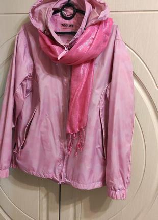 Женская куртка ветровка tog24 milatex+ шарф, р.50/uk 14
