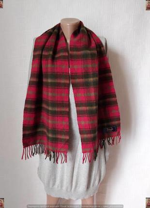 Новый мега тёплый шарф со 100 % кашемира в сочную красную клетку