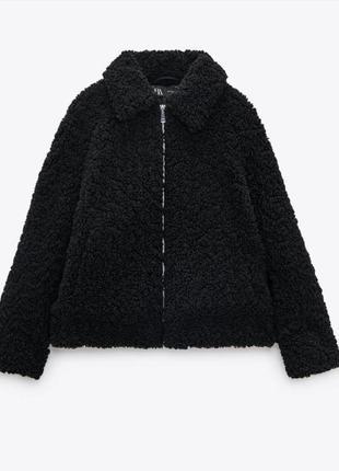 Очень стильная, мягкая и тёплая куртка из искусственного меха🖤