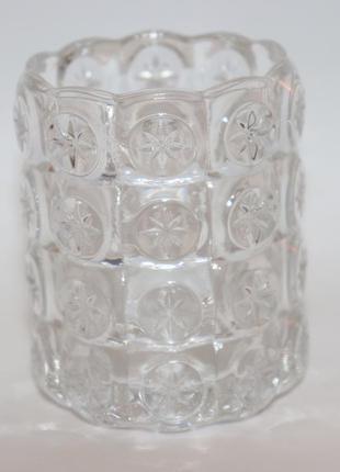Интересная вазочка стекло узоры ikea вес 281,3 грамм винтаж замеры высота 8,5 см диаметр 6 см