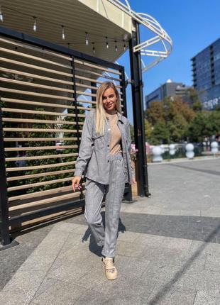 Костюм серый женский кашемировый кашемир рубашка брюки