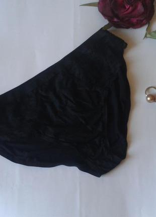 Красивые черные трусики с кружевом marks & spencer