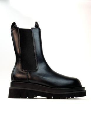 Ботинки / сапони женские bottega veneta lug boots