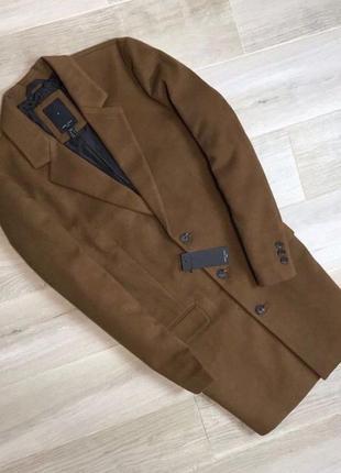 Коричневое мужское пальто zara new look bershka