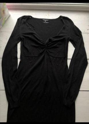Чёрное легкое платье