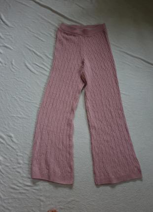 Вязаные клешеные женские штаны