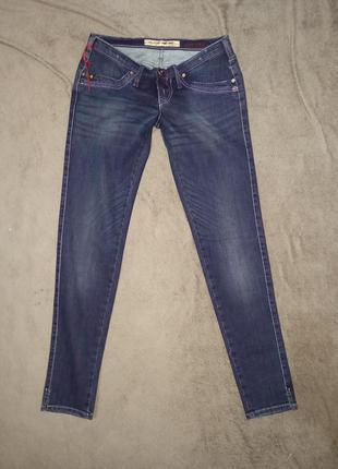 Сине -фиолетовые крутые джинсы