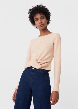 Блуза джемпер с узлом кофта zara
